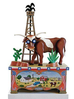 Love this....easy drawing of longhorn and oil well....