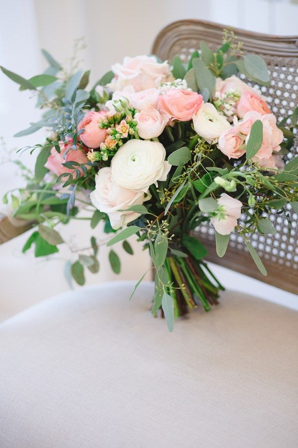 Gorgeous blush pink and gold reception decor from twobirds amazing pastel bouquet by blue sky flowers image by claire graham photography mightylinksfo