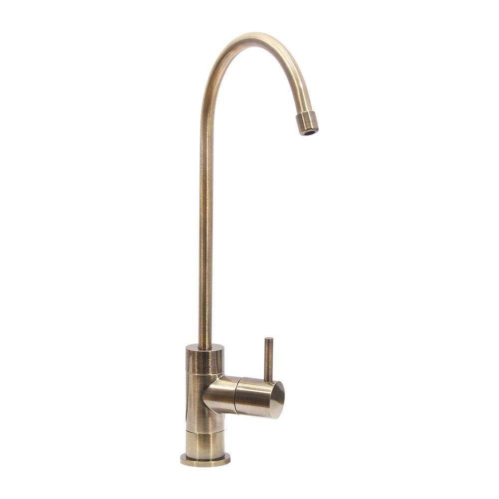 Single-Handle Drinking Water Filtration Faucet in Brass | Faucet and ...