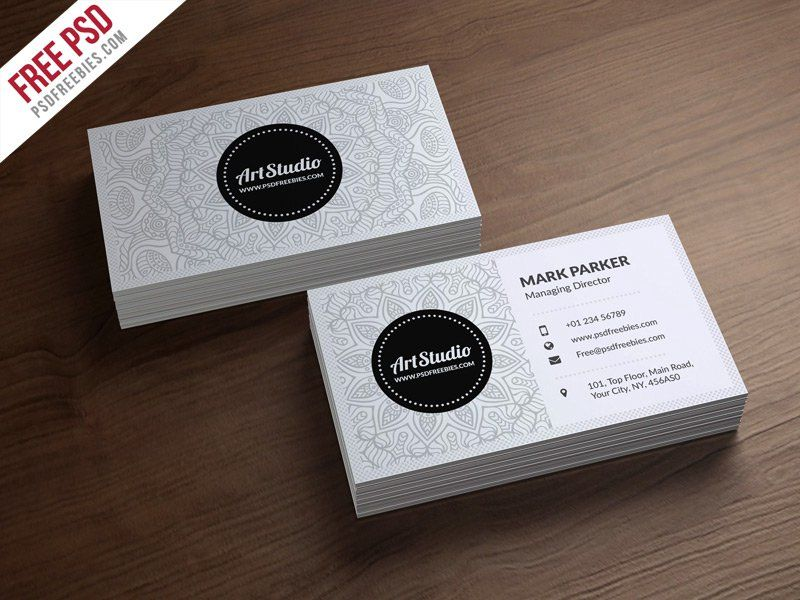 Creative white business card template psd graphics pinterest creative white business card template psd reheart Images
