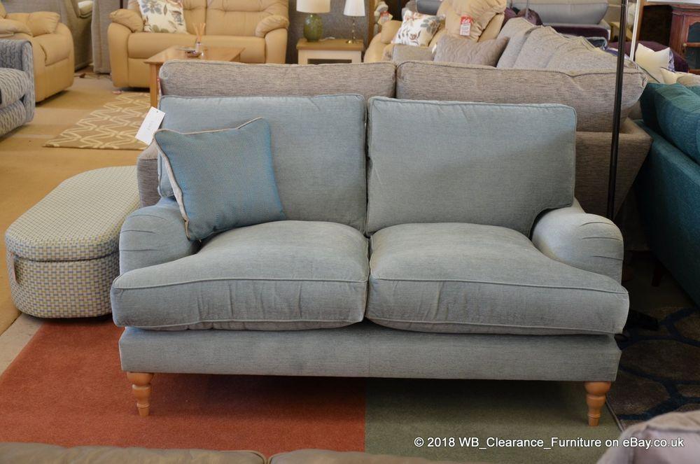 Penryn 2 Seater Sofa Genuine John Lewis Blue Fabric Rrp 1299 Classic Design 2 Seater Sofa