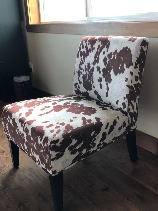 Enjoyable Accent Chair Cool Cow Print For Sale In Bellevue Wa Squirreltailoven Fun Painted Chair Ideas Images Squirreltailovenorg