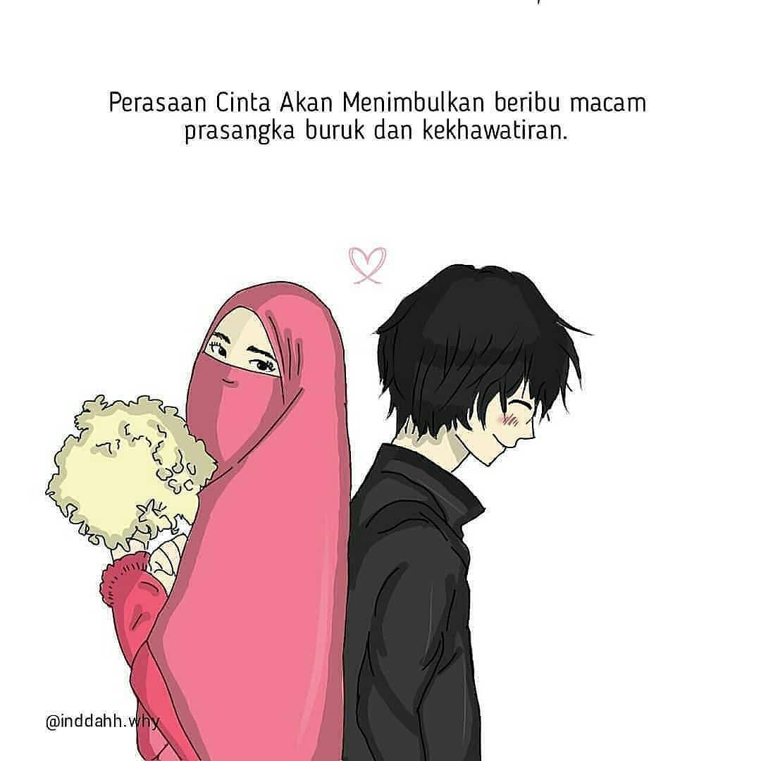 31 Gambar Kartun Muslim Berpasangan Gambar Kartun Hd