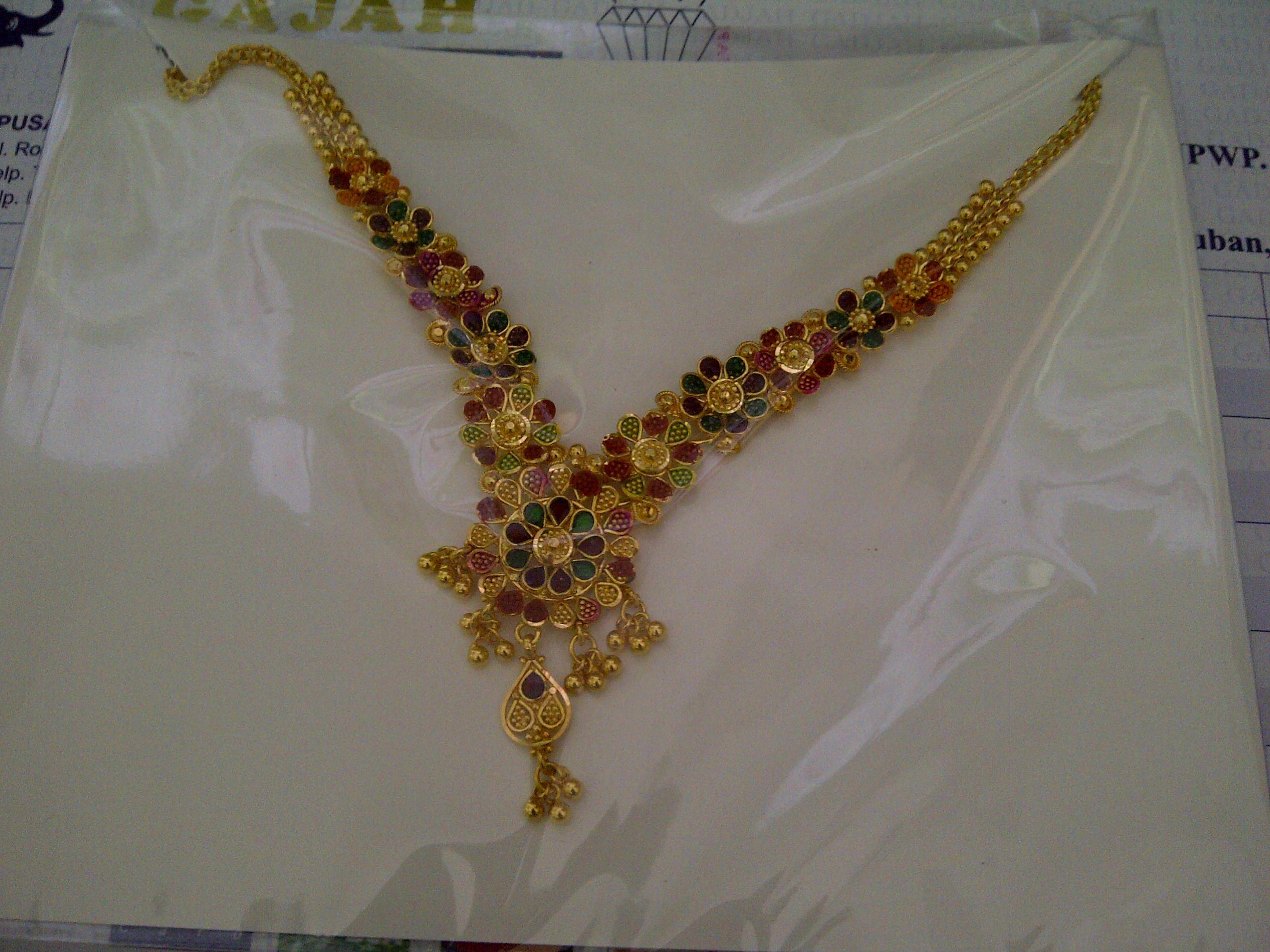 22k India / Dubai Gold necklace | 22k & 24k Gold Jewelry ...
