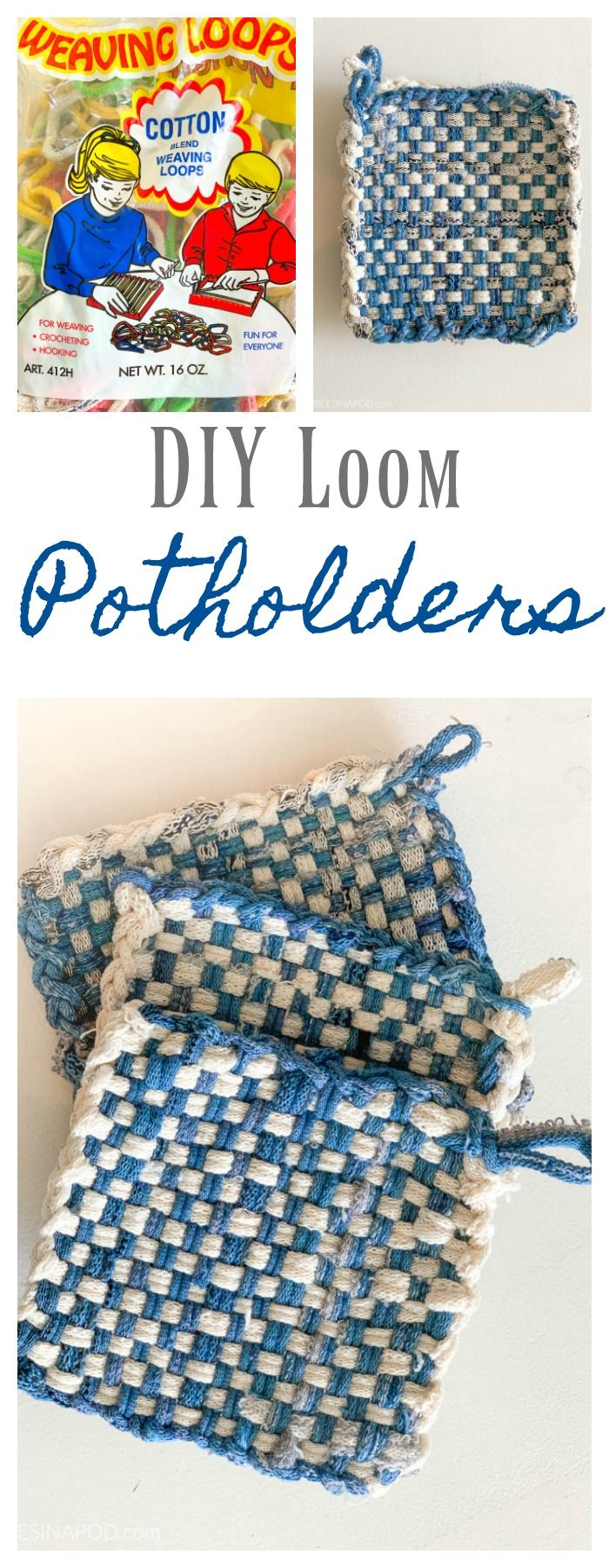 DIY Potholder Loom - Easy and Fun to Make #potholders