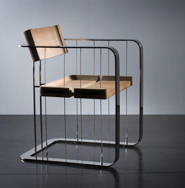 Hang-On Bauhaus Special Chair by Rogier van Camelbecke 2008 van staal en hout & vjeranski: Bauhaus | FURNITURE | Pinterest | Bauhaus Bauhaus chair ...