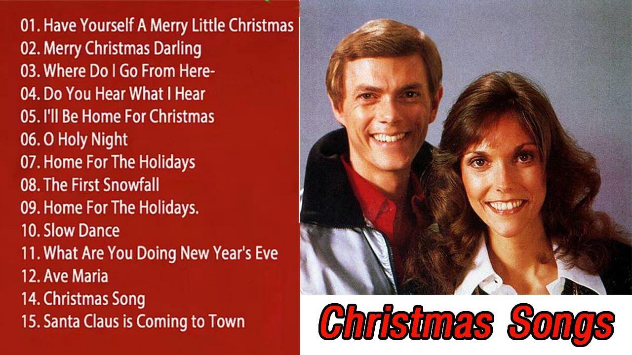Carpenters Christmas.The Carpenters Christmas Songs Album The Carpenters