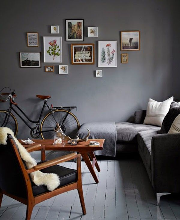 Donkere kleur woonkamer  THESTYLEBOX  huizen in 2019