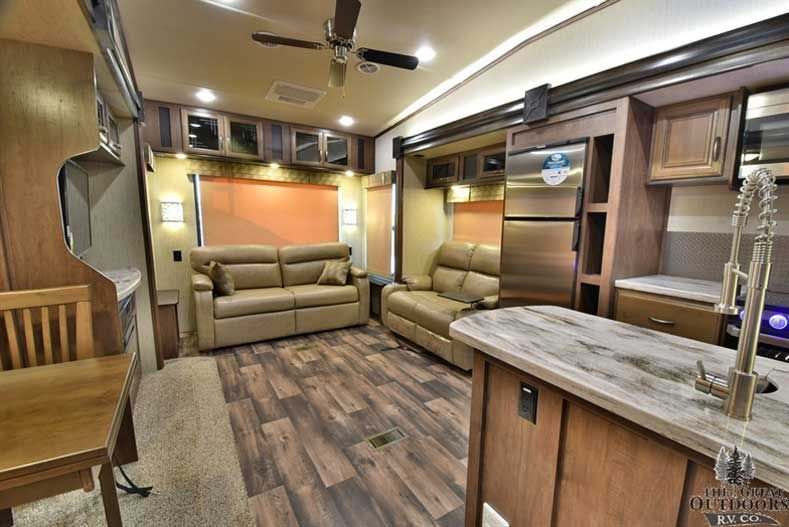 2018 Outside Kitchen Sandpiper 345rlok Rear Living Room Fifth