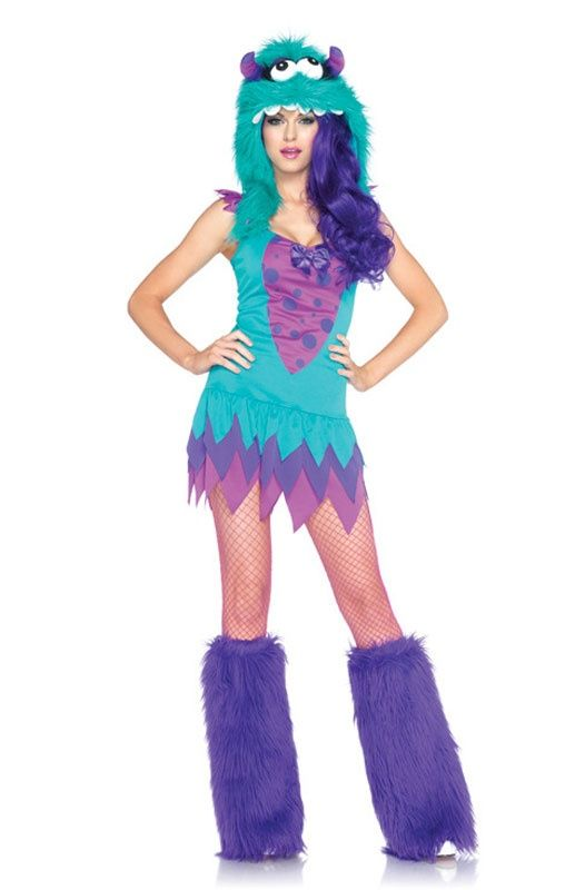 Fuzzy Frankie Adult Costume Costumes, Holidays and Halloween costumes - cute teenage halloween costume ideas