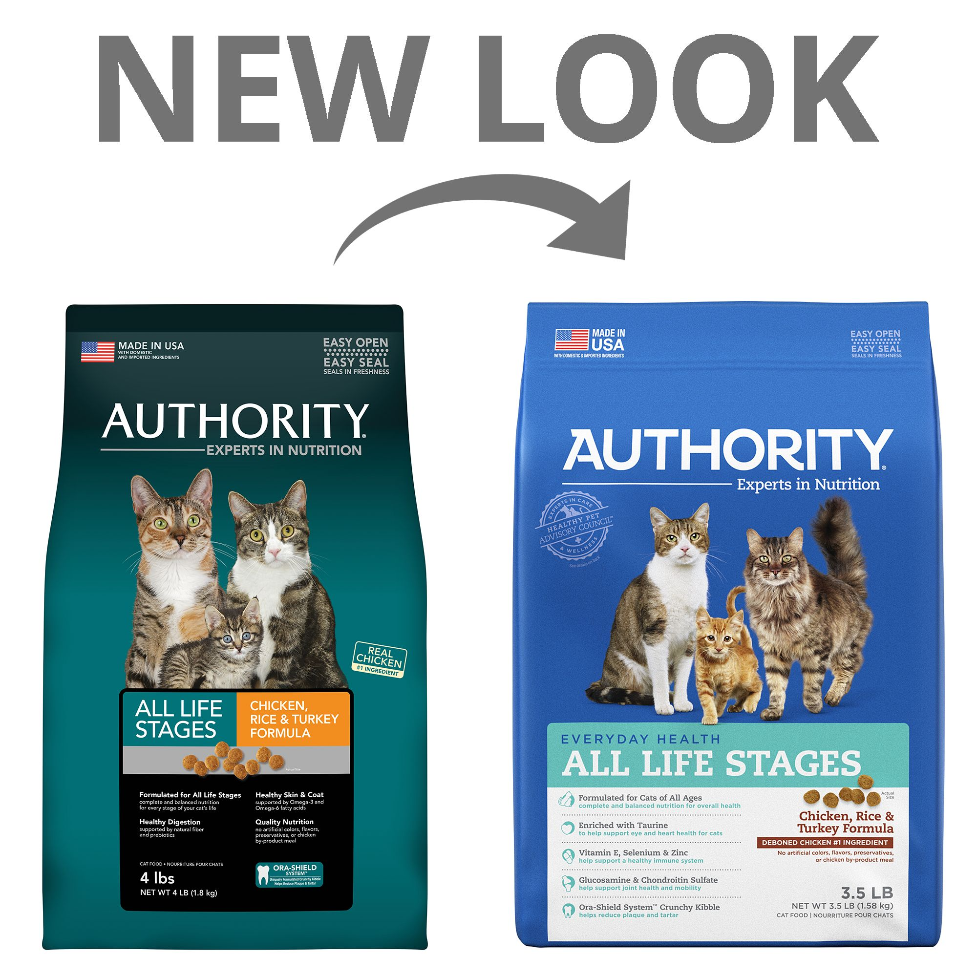 Authority All Life Stages Cat Food Chicken Rice And Turkey Size 3 5 Lb Beet Copper Salmon Cat Food Author Cats