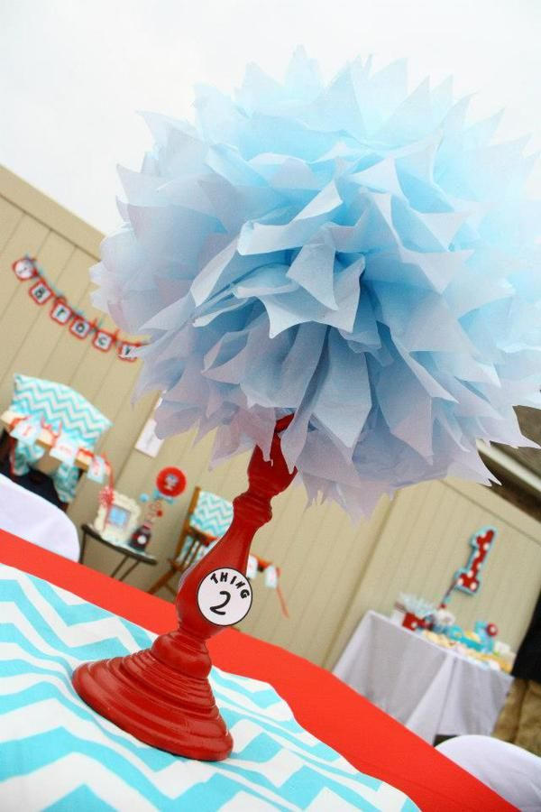 Thing One Thing Two Dr Seuss Themed Birthday Party For Twins Via