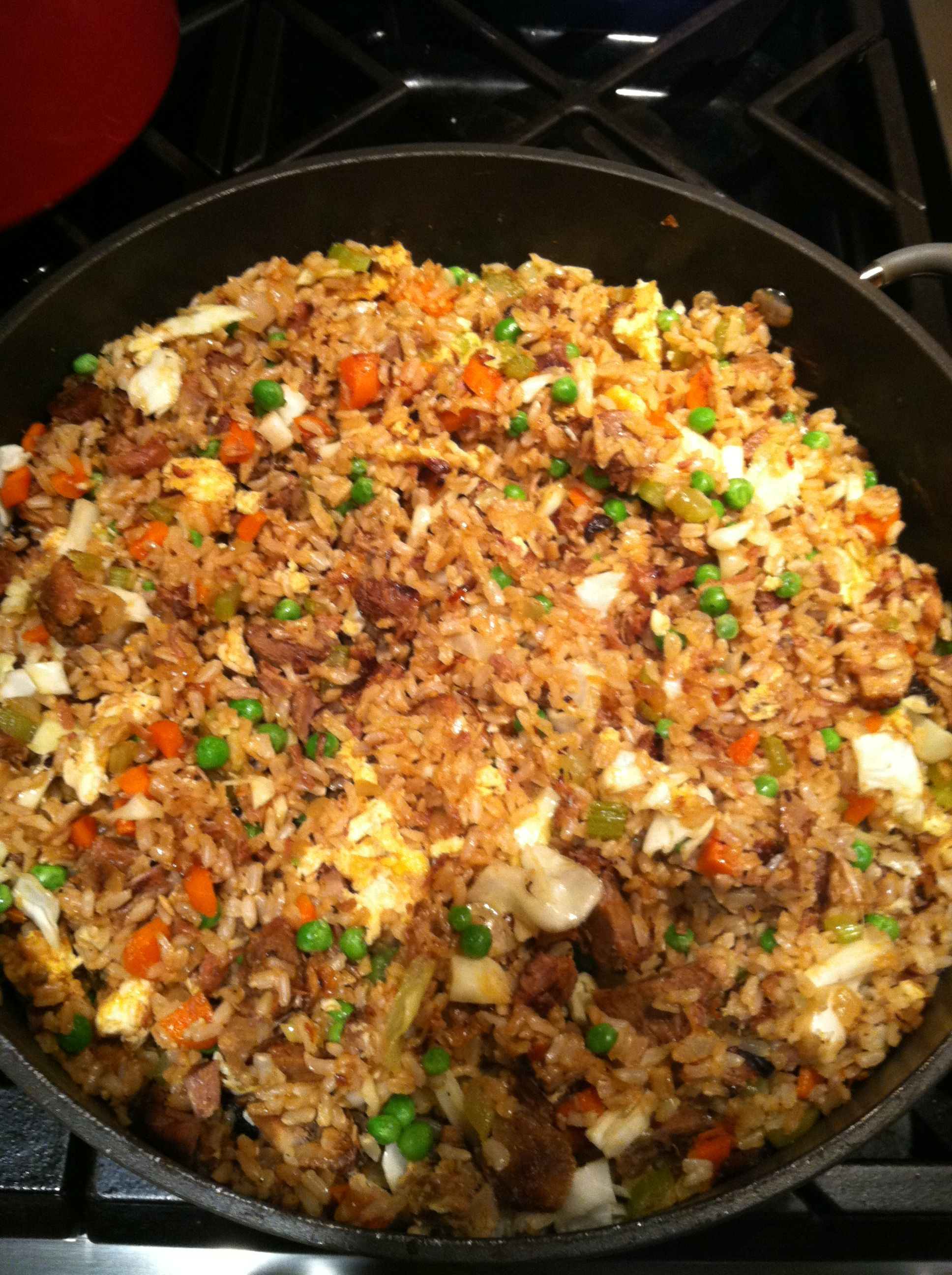 The best fried rice youll ever make rice fried rice and beef kabobs my fried rice is so good as a side dish or main dish as a main dish i cut up cooked pork or chicken seasoned with teriyaki sauce and add to the ccuart