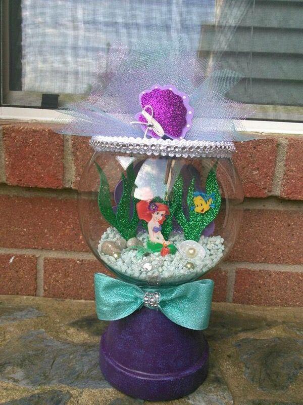 Little mermaid centerpiece pinterest mermaid for Little mermaid fish tank decor