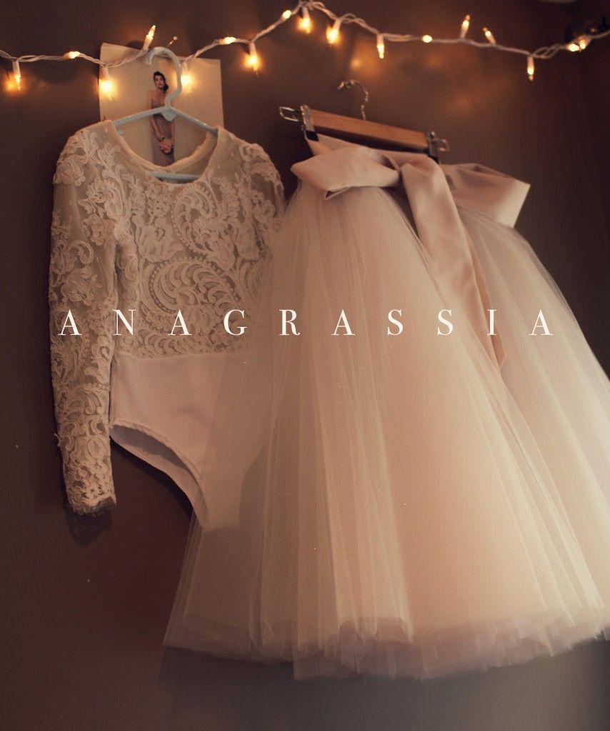 Anagrassia alencon lace flower girl dresses wedding dress