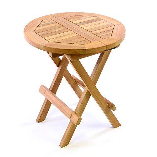 Gartentisch rund klappbar  DIVERO Kindertisch Gartentisch Balkontisch Beistelltisch Holz Teak ...