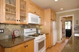 galley kitchen with light maple cabinets - Google Search ... on ideas to change oak kitchen cabinets, kitchen ideas with oak cabinets, ideas for refurbishing kitchen cabinets, painted and stained oak kitchen cabinets,