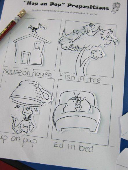 Hop On Pop Preposition Worksheet Ds Books Pinterest