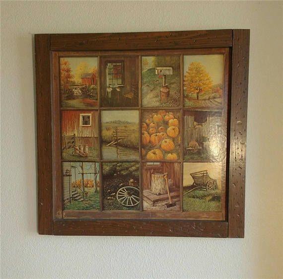 Vintage 70 S Artist Signed B Mitchell Homco Home Interior