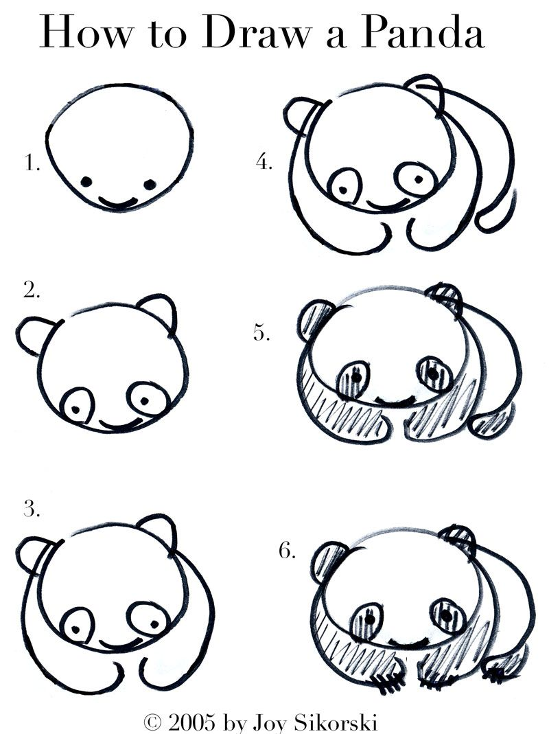 Uncategorized Easy To Draw Pandas get better at drawing little things pinterest panda how to draw a como dibujar un panda