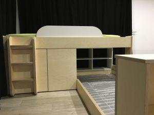lits superpos s sur mesure contreplaqu de bouleau pour chambre d 39 enfant sous combles tiroir. Black Bedroom Furniture Sets. Home Design Ideas