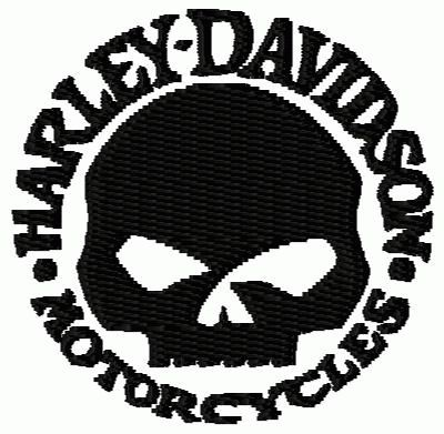 Harley Davidson Skull Logo Free Embroidery Designsfree Embroidery