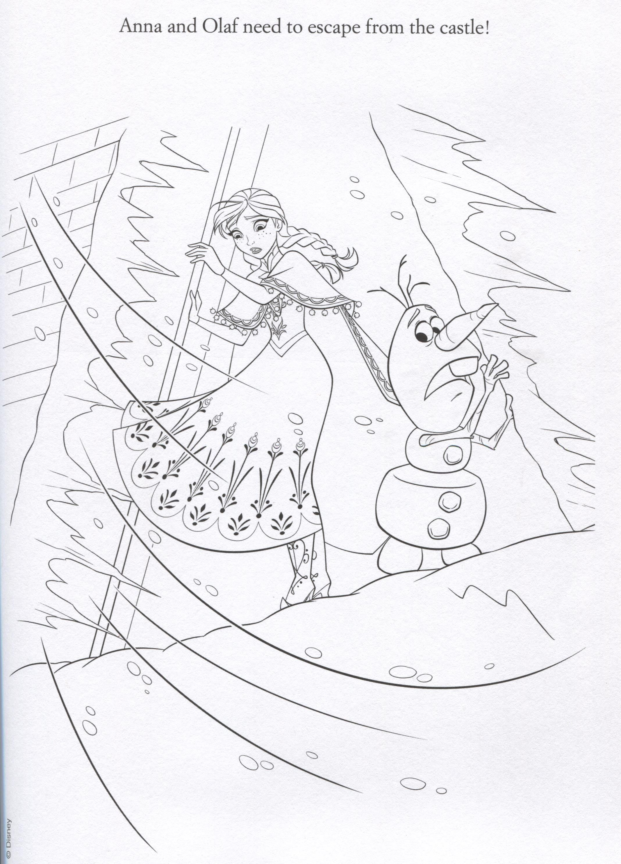 Frozen coloring pages for kindergarten