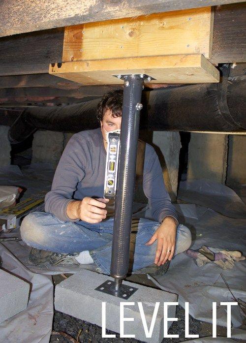 Floor Jack For Diy Sagging Floor Diy Home Repair Remodeling