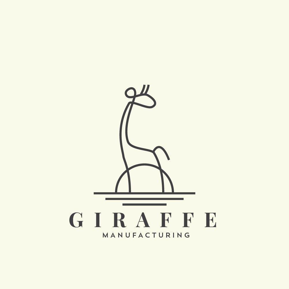 Creative Design · Animal Logo By Spoonlancer. Minimal Linework Creates A  Giraffe Doodle. #minimalism #logo