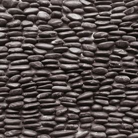 Decorative Stone Wall Tiles Solistone 15Pack 4In X 12In Standing Decorative Pebbles Black