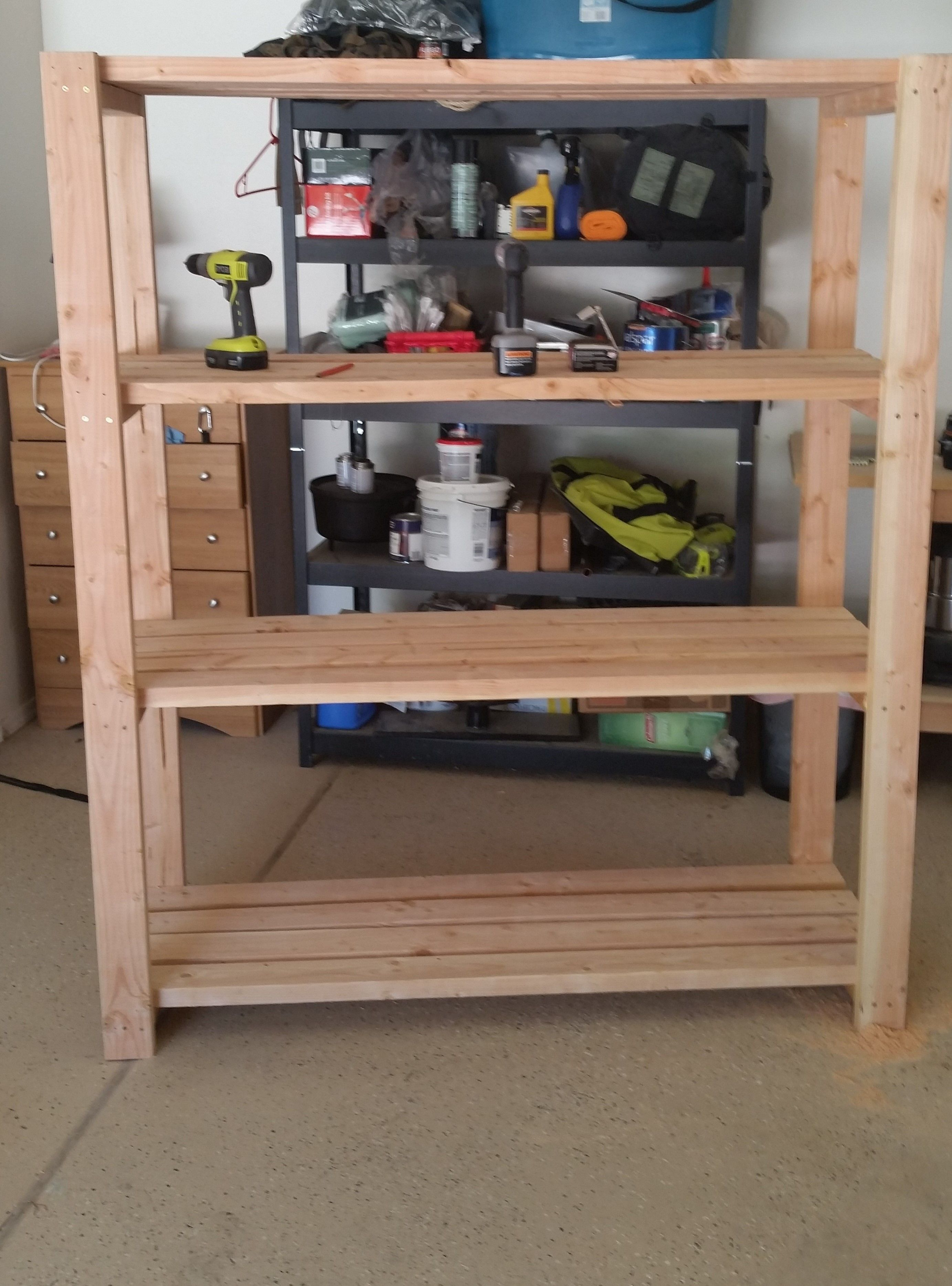 2x4 garage shelves restaurant interior design drawing 2x4 garage shelving do it yourself home projects from ana white rh pinterest com build 2x4 garage shelves 2x4 garage shelves diy solutioingenieria Images