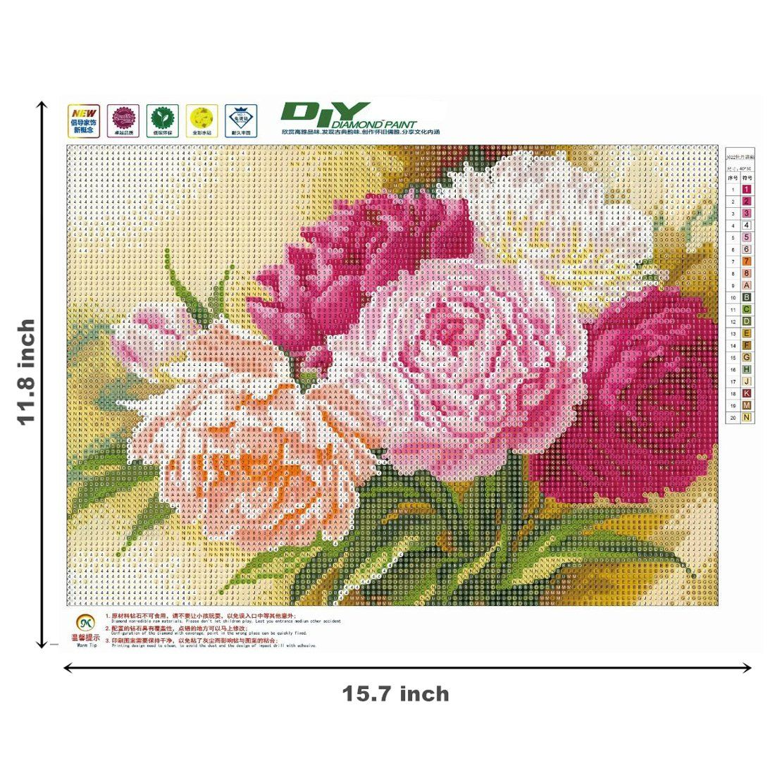Full Drill DIY 5D Diamond Painting Plant Flowers Cross Stitch Embroidery Kits
