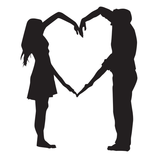 Couple Heart Shape Arms Silhouette Png Image Download As Svg Vector Eps Or Psd Get Couple Heart Shape Arms Silhouet Silhouette Art Sillouette Art Silhouette