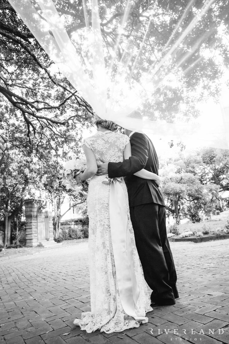 Play around with your wedding veil to capture some stunning shots