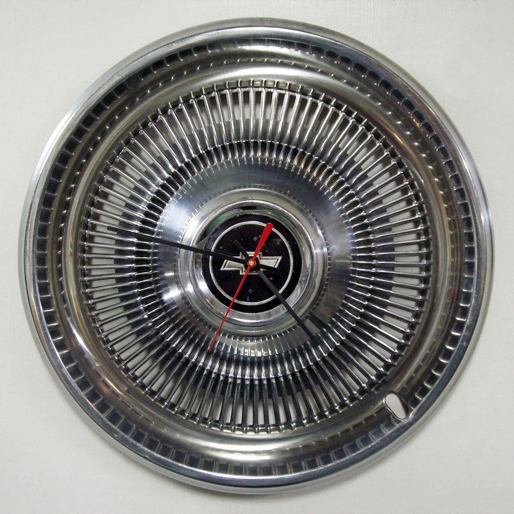 Chevy Hubcap Clock 1970 1975 Chevrolet Monte Carlo Chevelle Impala Wall Clock 1971 1972 1973 1974 Car Clock Car Furniture Impala