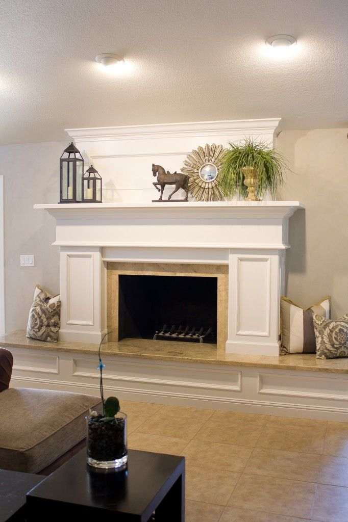 Box In The Fireplace With Paneled Front. Love The Big Mantel.