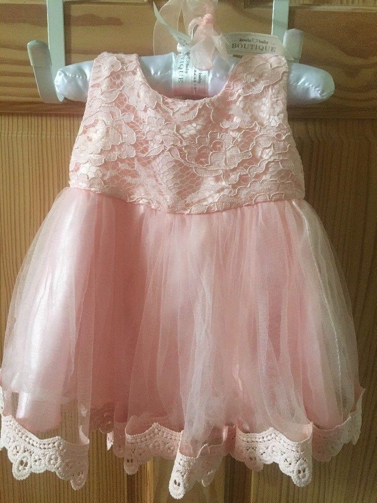 e51176125a koala baby boutique Girls Newborn Peach Formal Dress 3 Months  KoalaBaby   Lace  FormalParty