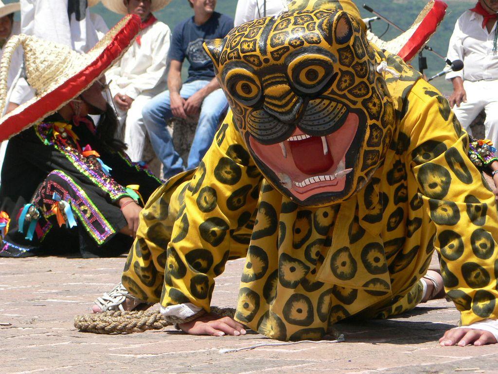 El jaguar es un elemento clave en la Danza de los Tecuanes de Acatlán.