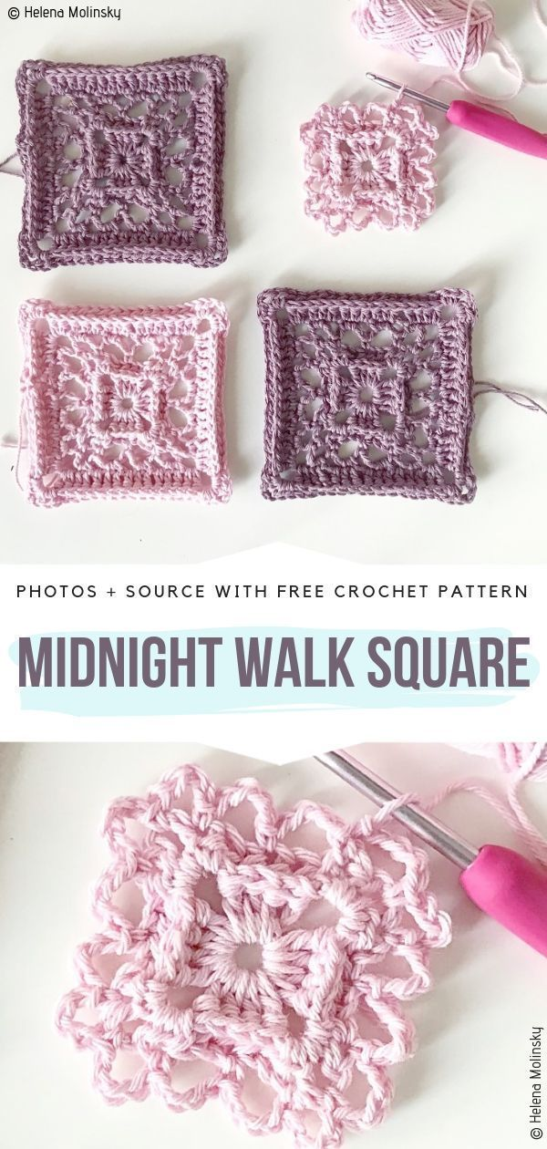 Lace Motif Squares Free Crochet Patterns