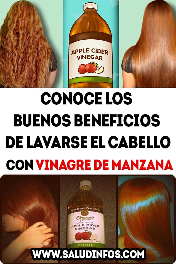 Conoce Los Buenos Beneficios De Lavarse El Cabello Con Vinagre De Manzana Cabello Vinagre Manzana
