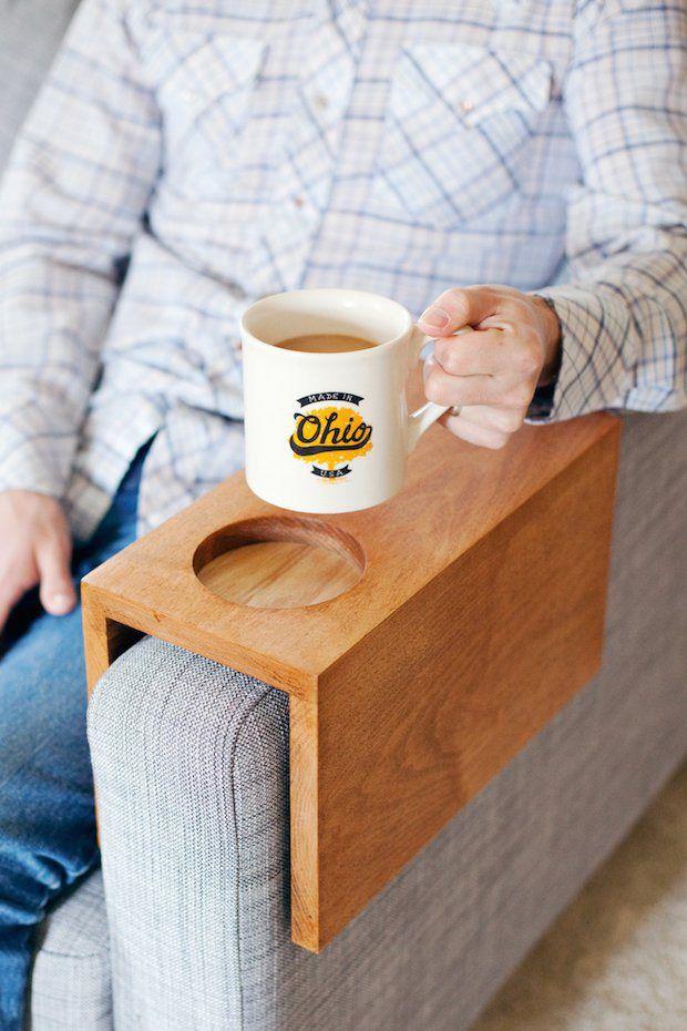 sofa hack wooden armrest