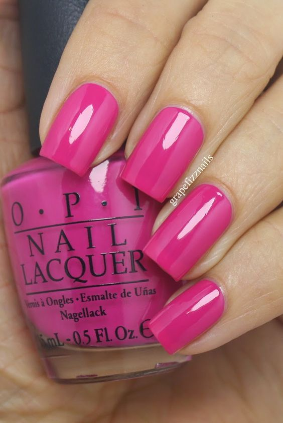 grape fizz nails: OPI Ford Mustang Collection | Girls Love Ponies hot pink nail …