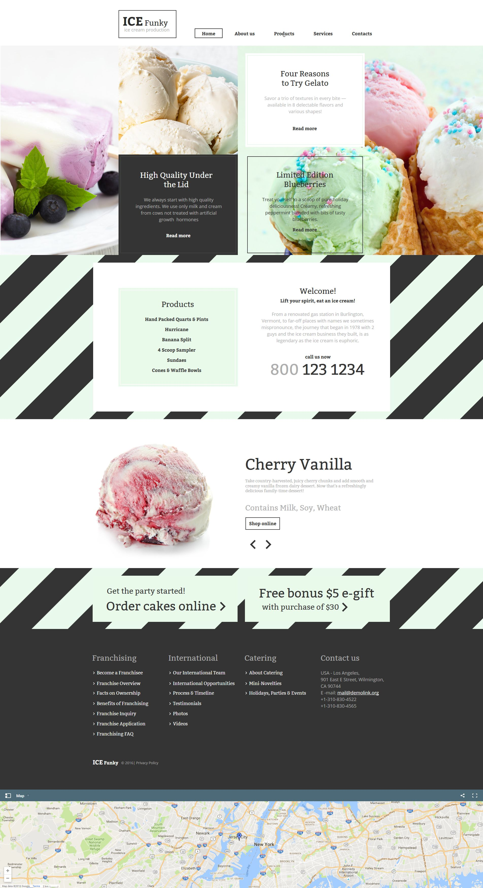 Ice Cream Moto CMS HTML Template | Template, Website designs and ...