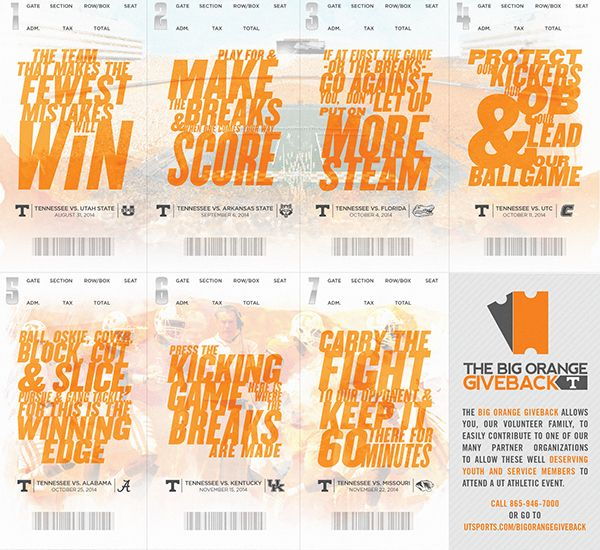 Tennessee Football 2014 Programs & Season Tickets on Behance