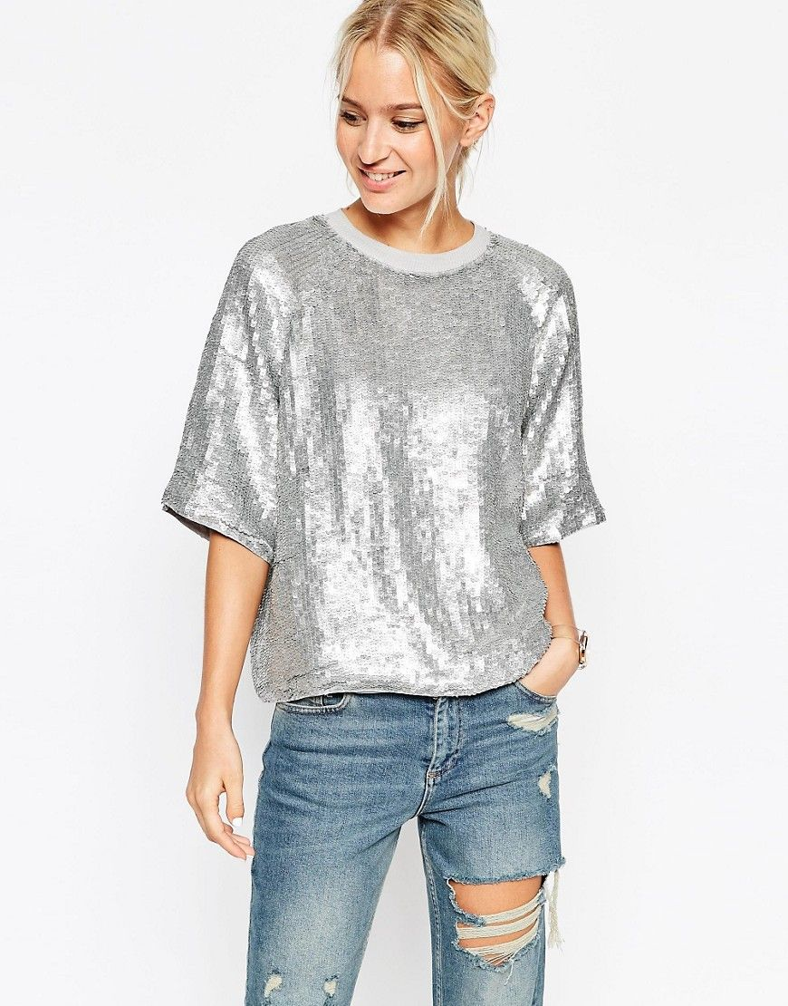 Compra Vestido informal de mujer color plata de Asos al mejor precio.  Compara precios de vestidos de tiendas online como Asos - Wossel España