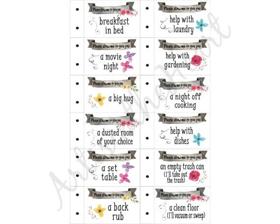 e2580f409b82 Love coupons Valentine Coupon Book for mom Printable Coupon ...