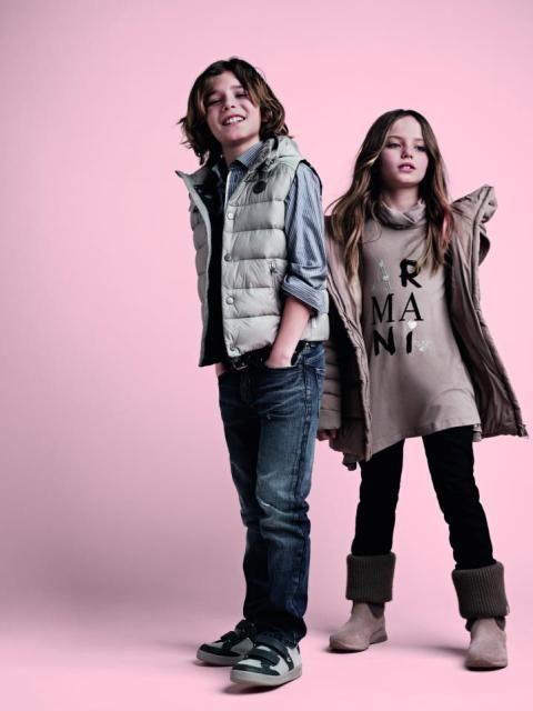 Armani Kid's Latest Junior Winter Fall Collection 2012, 2013