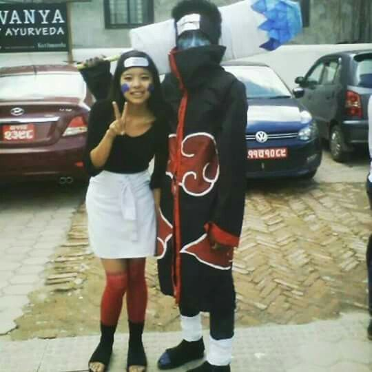 Rin And Kisame From Naruto Cosplay Nepal Cosplay Pinterest