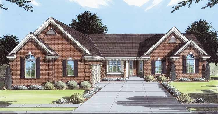 Traditional Style House Plan 3 Beds 2 Baths 1809 Sq Ft Plan 46 458 House Plans Ranch Style House Plans One Level House Plans