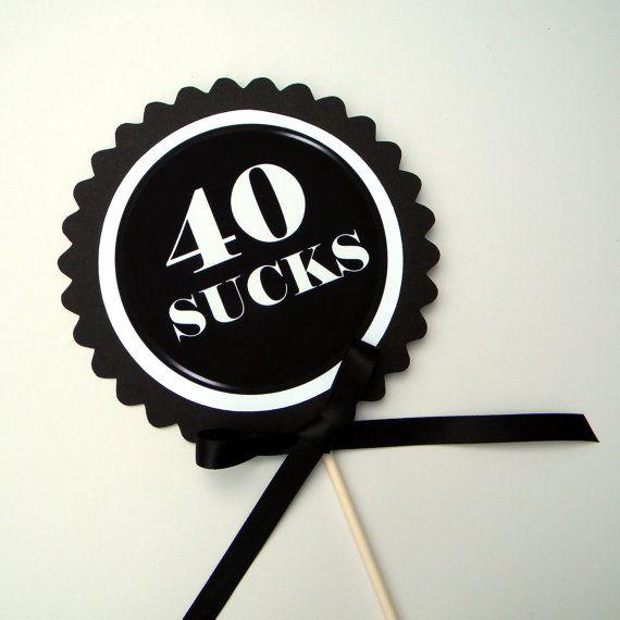 Terrific 30 Sucks 30Th Birthday Cake Topper Black Red And White Or Choice Personalised Birthday Cards Akebfashionlily Jamesorg